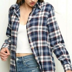 NEW Brandy Melville Wylie Flannel Plaid Shirt